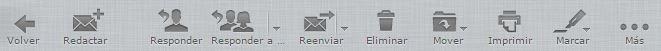 Captura botones funciones correo