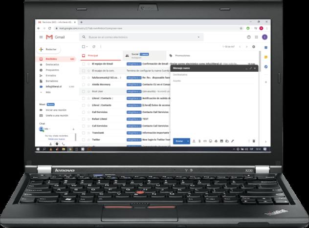 Gmail Lenovo Chrome Windows@0.5x
