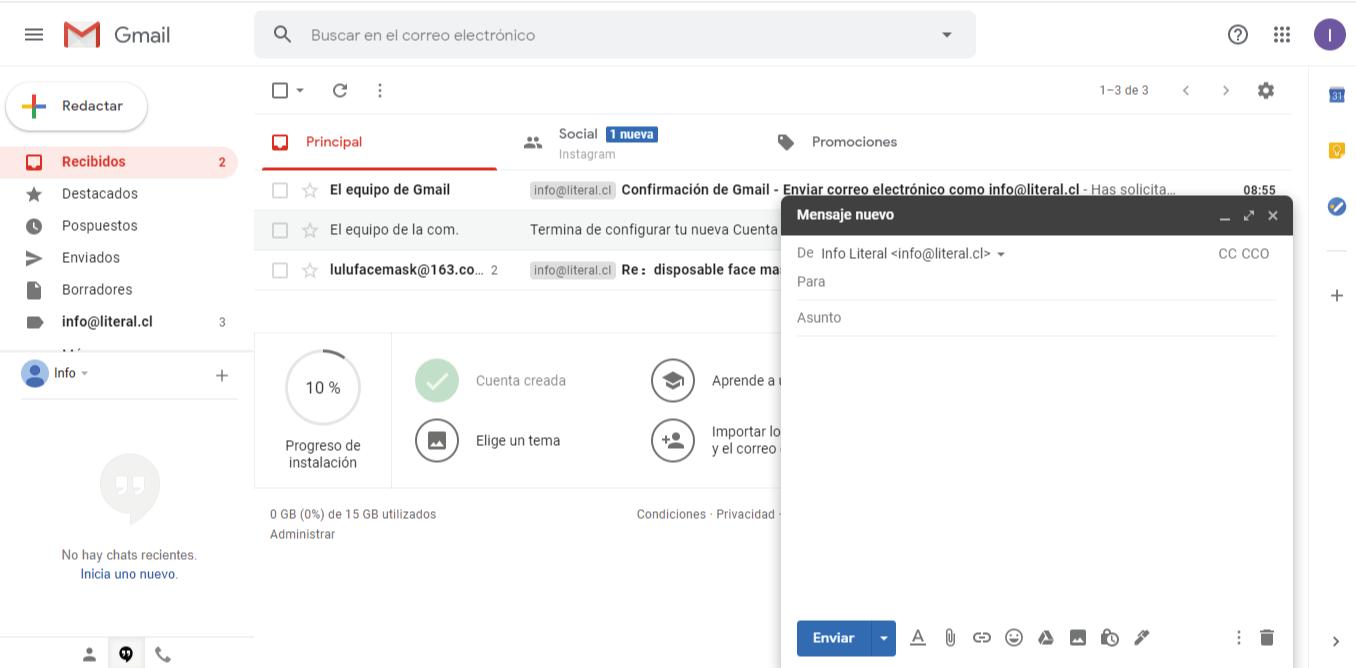 Gmail screenshot info literal