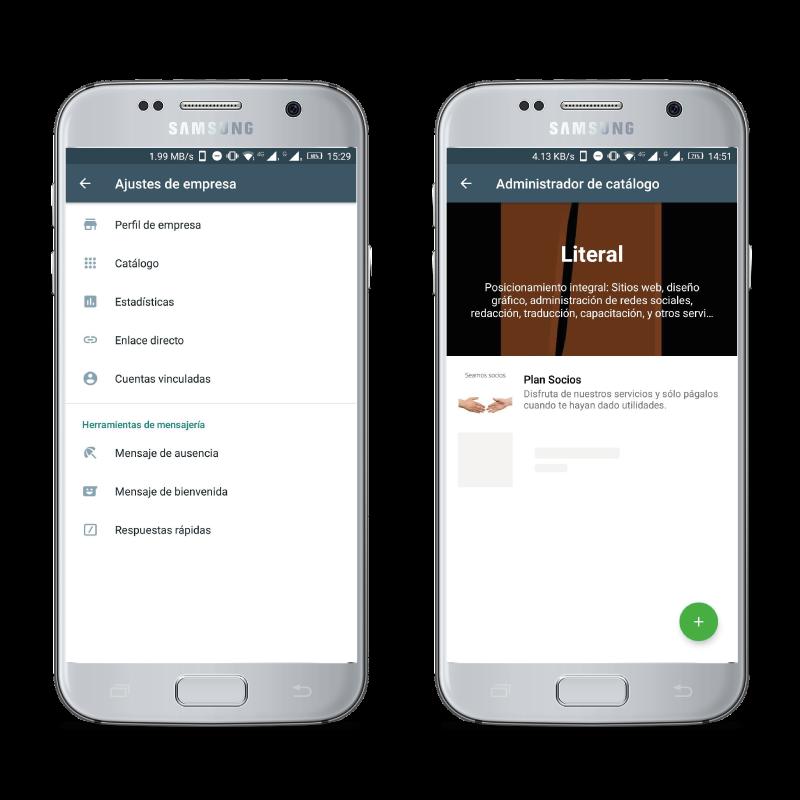 En WhatsApp para empresas puedes crear un catálogo de productos