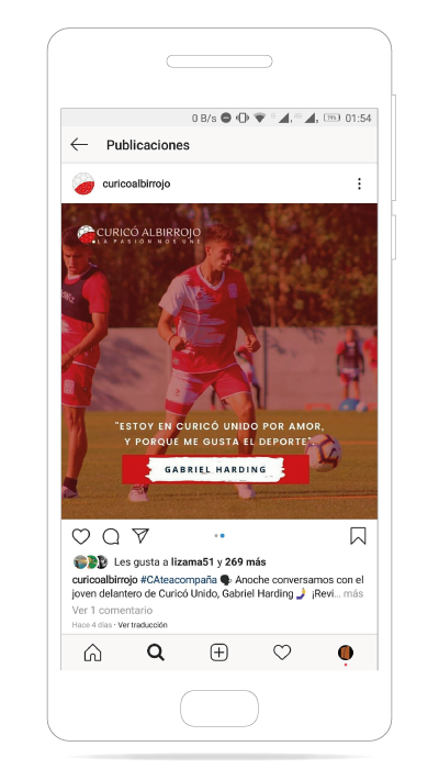 Curicó Albirrojo en Instagram